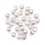 Glass Rhinestones 3mm Hot Fix Color Crystal AB 1000 pieces