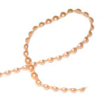 Fused Flat Backed Beads 6mm Peach 18 Yards