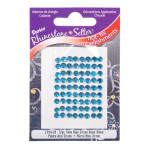 Glass Rhinestones 4mm Hot Fix Color Blue Zircon 72 pieces