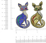 Iron On Patch Applique - Fox Gold Gem Eye Metallic *colors*