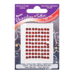 Glass Rhinestones 4mm Hot Fix Color Light Siam 72 pieces