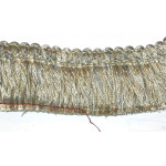 "Brush Fringe 2"" Conso Imperial Tan Gray Taupe White - Priced Per Yard"