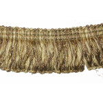 "Looped Fringe 1 3/4"" Conso Imperial Tan Gold Cream - Priced Per Yard"