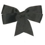 "Ribbon Bow 4"" Black - 5 Pack"