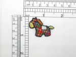 Horse Pony Patch Tartan Iron On Embroidered Applique
