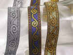 "Jacquard Ribbon 3/4"" (20mm) Khatgora *Colors* Per Yard"