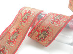"Elephant Jacquard Ribbon 2 1/4"" (58mm) Pattern Priced per Yard"
