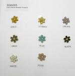 Bead Flower Accent Appliques *colors* 10 Pack