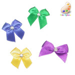 Bow with Rhinestone center *Colors* 25 Pack