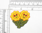 Sunflowers  Smiling Iron on Patch Applique