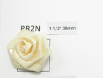 "Ribbon Rose Flat  1 1/2"" 38mm 10 Pack - IVORY"
