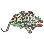 Iron On Patch Applique - Leopard on branch