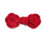 Frog Closure Rose Style Red 6 pack