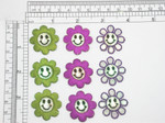 3 X Smiley Daisy Embroidered Iron On Applique