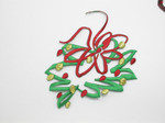 Christmas Garland Wreath Modern Embroidered Iron On Patch Applique