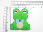 Frog Iron On Patch Applique - Puffy 3D