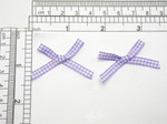 "Lilac Gingham Bows 1 5/8"" x 1 1/8"" 24 Pack (41mm x 28mm)"