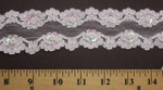 "Galloon Lace 2 1/4"" White with Beads & Sequin Detail"