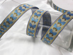 "Jacquard Ribbon 1 1/16"" Vertical Butterfly  per Yard"