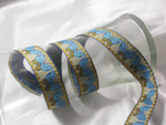 "Jacquard Ribbon 1 1/16"" Horizontal Butterfly Per Yard"