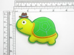 Turtle with hat Iron On Patch Applique - Puffy 3D