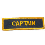 Iron On Patch Applique Captain Badge
