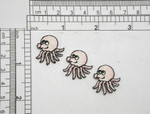 "3 x Octopus Mini Iron On Patch Applique    Fully Embroidered in Rayon Threads   Measure 7/8"" High x 7/8"" Wide Approximately"