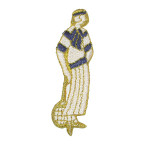 Iron On Patch Applique  Classic Tennis Lady