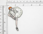 """Ballerina Dancer Embroidered Iron On Patch Applique   Fully Embroidered with Rayon and Metallic Threads   Measures 3"""" high x 1 1/2"""" wide approximately"""