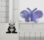Butterfly Purple Sparkle Iron On Patch Applique