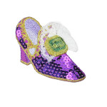 Iron On Patch Applique - Sequin Shoe Purple