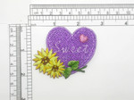 Valentine Sweet Heart Patch Embroidered Iron On Applique