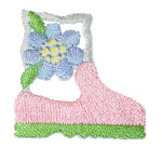 Iron On Patch Applique - Gardening Boot with Flower