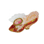 Iron On Patch Applique - Sequin Shoe PEACH