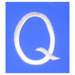 Iron On Patch Applique - Script Letter White Q