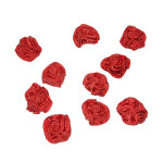 Rosette Applique Rouge 10 Pack