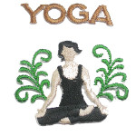 Iron On Patch Applique - Yoga C