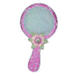 Iron On Patch Applique - Cosmetics Mirror 9368