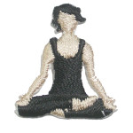Iron On Patch Applique - Yoga Lotus Position