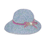 Iron On Patch Applique - Hat Red ribbon