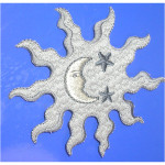Iron On Patch Applique - Night Scope with Moon and Stars