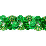 "Sequin Metalic Braid 5/8"" Emerald 5 Yards"