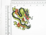 "Dragon Patch Iron On Embroidered Applique 4 1/8"" across x 3 1/4"""