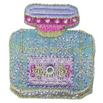 Iron On Patch Applique - Perfume Bottle 9516