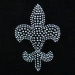 Iron On Patch Applique - Crystal Fleur De Lys Mardi Gras