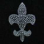 Iron On Patch Applique - Crystal Fleur De Lys