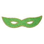 Iron On Patch Applique - Sparkle Mardi Gras Mask Green