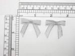 "Mini Silver Bow Metallic Lurex 50 Pieces 1 1/4"" x 1 1/8"" (32mm x 28.5mm)"