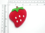 Strawberry Iron On Patch Applique - Puffy 3D