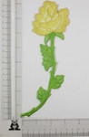 Iron On Patch Applique - Long Rose Spray Yellow